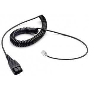 Replacement QD Quick Disconnect Cable Cord for Jabra GN1200 Smart Cord 6IN Coil Direct Connect Overhead Binaural Headset 88011