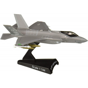Daron Postage Stamp PS5602 USAF F-35 Version A F-35 Lightning II USAF 1/144 Scale Diecast Model with Stand
