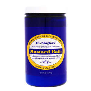 Dr. Singha's Mustard Bath, Therapeutic Bath Salts, 28 Ounce - Relaxing Bath Salts and Essential Oils Blend for Sore Muscles