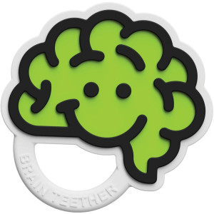 Fat Brain Toys Brain Teether - Green Baby Toys and Gifts for Babies