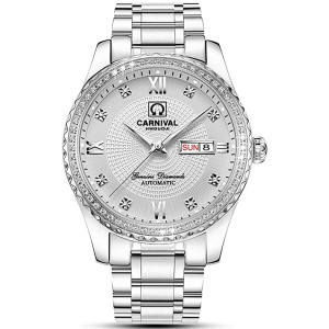 Automatic Watches for Men's Luxury Gold Silver Stainless Steel Watch Fashion Diamond Dress Wrist Watches