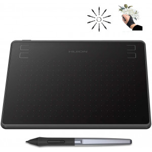 "Huion HS64 Graphics Drawing Tablet 6.3""x 4"" Battery-Free Stylus Android Devices Supported with 8192 Pen Pressure"