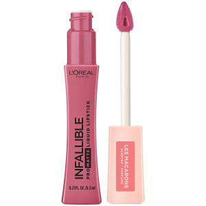 L'Oreal Paris Makeup Infallible Pro Matte Les Macarons Scented Matte Liquid Lipstick, Highly Pigmented, Longwear, Waterproof and Smudge Proof, Praline De Paris, 0.21 fl. oz.