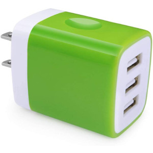USB Charger Block, Hootek Wall Plug 3-Multi Port USB Wall Charger Brick 3.1A Power Adapter Charging Cube Box Compatible iPhone 11 XS X 8 7 Plus, iPad, Galaxy S20 S10e S9 S8 A80 A71 A50 Note 10 9 8, LG