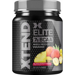 Scivation XTEND Elite BCAA Powder Island Punch Fusion | Sugar Free Post Workout Muscle Recovery Drink with Amino Acids | 7g BCAAs for Men and Women| 30 Servings, 1.19 lb, 19.04 oz