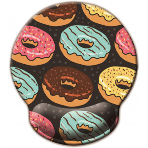 Non Slip Mouse Pad Wrist Rest for Office, Gaming,Computer, Laptop and Mac - Durable and Comfortable and Lightweight for Easy Typing and Memory Foam Pain Relief-Ergonomic Support (Bread Donuts)