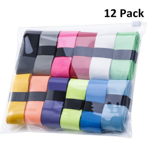 12 Pieces Tennis Badminton Racket Overgrips for Anti-Slip and Absorbent Grip