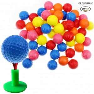 Crestgolf Foam Sponge Practice Golf Ball Soft Balls for Cats Kids 12/50 pcs per Bag