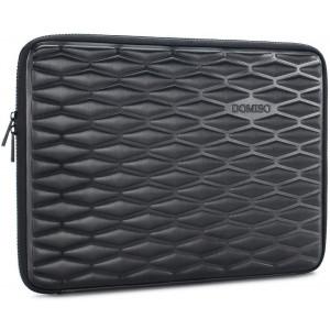 DOMISO 13.3 Inch Shockproof Waterproof Laptop Sleeve Lightweight Soft EVA Tablet Case for 13-13.3 Inch Laptops/MacBook Pro Retina/Dell Inspiron 13 XPS 13 / ASUS/Acer/Lenovo/HP, Black