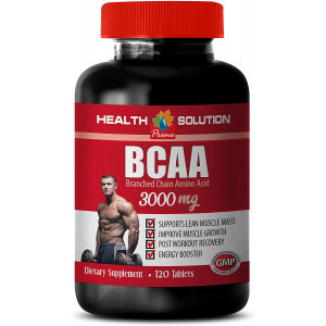 Muscle Growth and Recovery - BCAA 3000 MG - bcaa Weight Loss Men - 1 Bottle 120 Tablets
