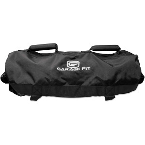 Garage Fit Sandbags for Fitness with Rubber Handles- Weighted Power Training- Heavy Duty Cordura Construction- 6 Rubber Gripping Handles- Adjustable, Workout Raw Power, Balance, Control