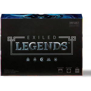 Exiled Legends Base Game - from The Creators of Unstable Unicorns - A Strategic Card Game for Teens and Adults, Black