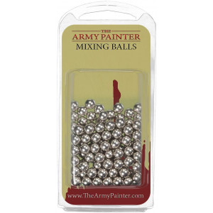 The Army Painter Paint Mixing Balls - Rust-proof Stainless Steel Balls for Mixing Model Paints - Stainless Steel Mixing Agitator Balls, 5.5mm/apr. 0.22, 100 Pcs