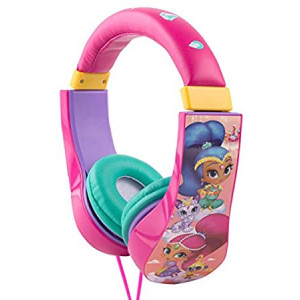 Shimmer And Shine Kid Safe Headphones HP2-04369-IMN, Equipped with Kids-Safe Technology to Limit The Volume, by Sakar, Adjustable Headband, Comfortable Ear Cups, Great Audio, Pink