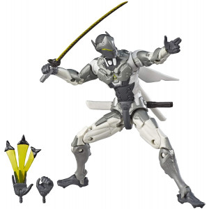 """Overwatch Ultimates Series Genji (Chrome) Skin 6""""-Scale Collectible Action Figure with Accessories - Blizzard Video Game Character (Amazon Exclusive)"""