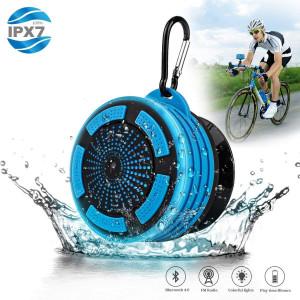 Hengwei Shower Radios, IPX7 Waterproof Portable Wireless Bluetooth Speaker with LED Mood Lights, Super Bass HD Sound Shower, Pool, Beach, KitchenandOutdoor