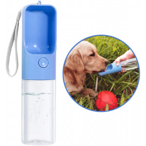 TRUE LOVE Dog Water Bottle for Walking, Portable Pet Travel Water Drink Cup Mug Dish Bowl Dispenser, Made of Food-Grade  Material Leak Proof and BPA Free - 15oz Capacity