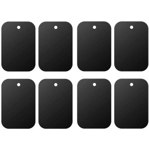 Mount Metal Plate8Pack for Magnetic Car Mount Phone Holder with Full Adhesive for Phone Magnet, Magnetic Mount, Car Mount Magnet-8X Rectangular (Black)