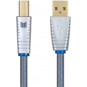 Monolith USB Digital Audio Cable - USB A to USB B - 2 Meter, 22AWG, Oxygen-Free Copper, Gold-Plated Connectors