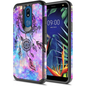 LG K40 Case, LG Solo LTE Case, LG K12 Plus Case, LG X4 2019 Case, Onyxii Hybrid Dual Layer Slim Graphic Armor Shockproof Impact Resistant Protective Cover Case for LG K40 (Dream Catcher)