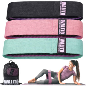 Walito Resistance Bands for Legs and Butt,Exercise Bands Set Booty Bands Workout Bands Hip Bands Wide Sports Fitness Bands Stretch Resistance Loops Band Anti Slip Elastic (Set 3)