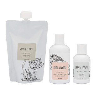Gryph and IvyRose Newborn Essentials - Baby Skin Care Gift Set - Body Wash, Body Oil, Shampoo, and Conditioner for Babies - Toxin Free Vegan Skin Care For Children and Toddlers
