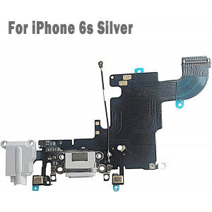 """UTechZH USB Charging Port Headphone Jack Dock Connector W/Mic Flex Cable Cellular Antenna Replacement Part Compatible for iPhone 6s 4.7"""" All Carriers (Light Gray)"""