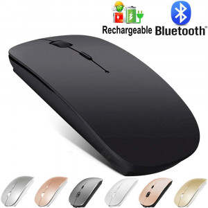 Bluetooth Mouse for MacBook pro/MacBook air/Laptop/iMac/ipad, Wireless Mouse for MacBook pro MacBook Air/iMac/Laptop/Notebook/pc(Bluetooth Mouse/Black)