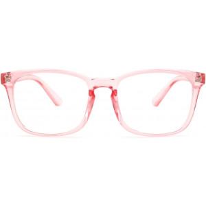Livho Blue Light Blocking Glasses, Computer Reading/Gaming/TV/Phones Glasses for Women Men,Anti Eyestrain and UV Glare LI8081 (Clear Pink)