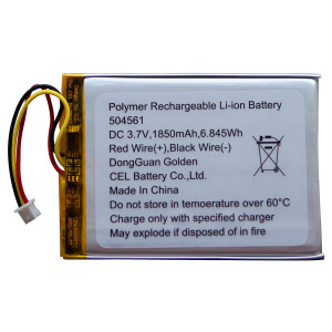 Moonybaby Official Battery for 5 Inches Baby Monitors, MB5595, MB55935-2T, MB55935BV, MB55935BV-2T, Li-ion 3.7V 1850mAh