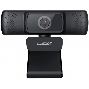 Webcam 1080P Full HD, AUSDOM AF640 Auto Focus Video Camera with Microphone for Skype YouTube Live Streaming, USB Web Cam Plug and Play, Compatible with Mac OS, Android and Windows 10/8/7/XP