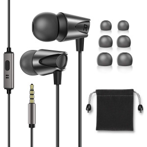 in-Ear Headphones,Hi Res Stereo M17 Wired Earphones Comfortable Tangle Free Earbuds with Deep Bass for iPhone,iPod,Android Smartphones,MP3 Players,Tablets and All 3.5mm Audio Jack