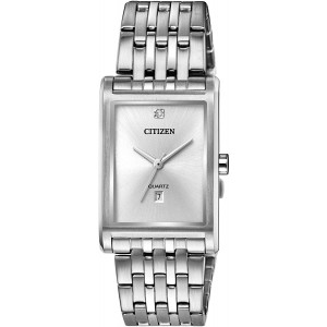 Citizen Men's Quartz Watch with Stainless Steel Strap, Silver, 20 (Model: BH3001-57A)