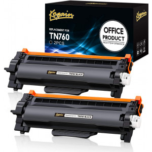 Kogain Compatible Toner Cartridge Replacement for Brother TN760 TN-760 TN730 High Yield 2 Pack,Work with Brother HL-L2350DW HL-L2370DWXL MFCL2710DW DCP-L2550DW HL-L2395DW MFC-L2750DW Printer