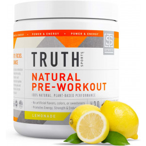 All Natural Pre Workout Powder- Plant Based, Keto and Vegan Friendly Preworkout - Energy, Focus and Performance - Boost Muscle Strength and Endurance- Truth Nutrition (30 Servings - Lemonade)