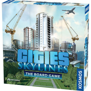 Cities: Skylines - Cooperative City-Building Board Game from Kosmos | Based On The Hit Video Game | for 1-4 Players Ages 10+ | Develop and Manage Cities and Neighborhoods