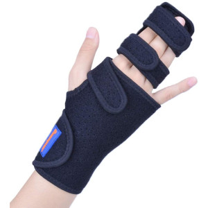 Trigger Finger Splint for Two or Three Finger Immobilizer - Post Operative Care Support for Broken Joints, Sprains, Contractures, Arthritis, Tendonitis and Pain Relief (Right, L/XL)