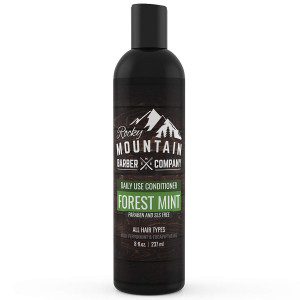 Men's Conditioner - Tea Tree Oil, Peppermint and Eucalyptus for All Hair Types  Hydrates Dry Itchy Scalp  Paraben, SLS and DEA Free - 8oz - by Rocky Mountain Barber Company
