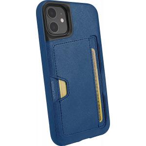 Smartish iPhone 11 Wallet Case - Wallet Slayer Vol. 2 [Slim Protective Kickstand] Credit Card Holder (Silk) - Blues on the Green