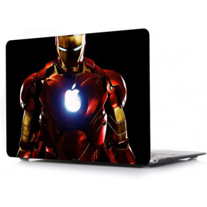"""Case for MacBook Pro 13 Inch - L2W Laptop Accessories Hard Plastic Printed Cover Compatible with Mac Pro 13"""" Retina with USB 3 and HDMI Port, Model: A1502/A1425, Protection Shell of Design Iron Man"""