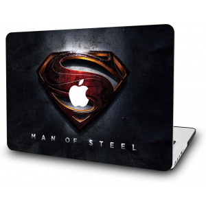 """Case for MacBook Air 13 Inch-L2W Laptop Accessories Hard Plastic Printed Cover Compatible with Mac Air 13.3"""" with Two USB 3 Ports, No Touch ID, Model: A1466/A1369, Protection Shell of Design Superman"""