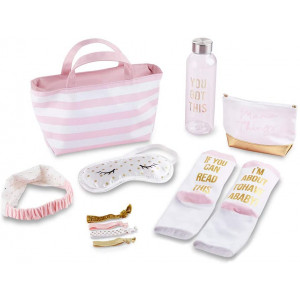 Kate Aspen Deluxe Labor and Delivery Inspirational Prepacked Hospital Set Shower Gift LandD Kit, One Size, Pink