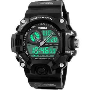 Men's Watches Multi Function Military S-Shock Sports Watch LED Digital Waterproof Alarm Watches