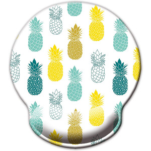 Ergonomic Mouse Pad with Wrist Support,Dooke Cute Wrist Pad with Non-Slip Rubber Base for Computer, Laptop, Home Office Gaming, Working, Easy Typing and Pain Relief Pineapple