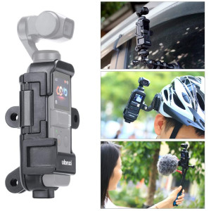 """ULANZI OP-7 Vlog Extended Housing Case Compatible for DJI Osmo Pocket Multifunctional Cage Bracket with Microphone Cold Shoe Mount 1/4"""" Hole 3 Interface Adapters"""