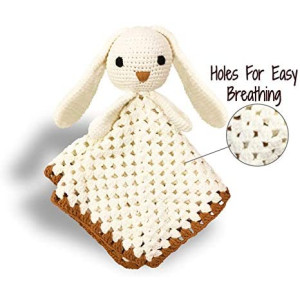 Handmade Crochet Baby Security Blanket | All Cotton | Perfect Baby Present