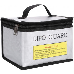 Youdepot Fireproof Explosionproof Lipo Safe Bag for Lipo Battery Storage and Charging, Large Space Highly Sturdy Double Zipper Lipo Battery Guard, 8.5x6.5x5.7Inches