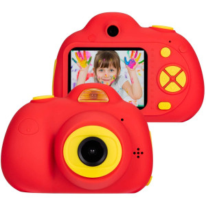 lucky-seller Digital Camera for Kids 8MP Dual Cameras 1080p HD Video Cameras with 2.0 inch LCD Screen Support 32GB for 3-7 Year Old Boys Girls (Red)