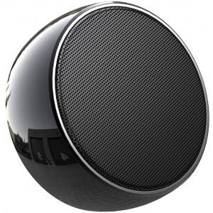 Portable Bluetooth Speakers, Stainless Steel Wireless Speaker Mini Office Speaker with Built-in Mic Handsfree Call AUX and TF Card Slot for iPhone,iPad,Tablet - Black