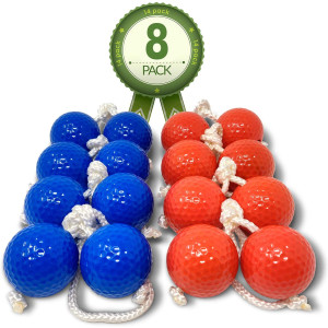 """Kayco Outlet - Tournament Quality Ladder Balls Replacement  8 Pack - for Outdoor Ladderball Toss and Golf Game Set 14.75"""" Size"""